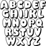 7 Best Large Printable Bubble Letters M Printablee