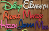 7 Disney Alphabet Letters Free PSD EPS Format