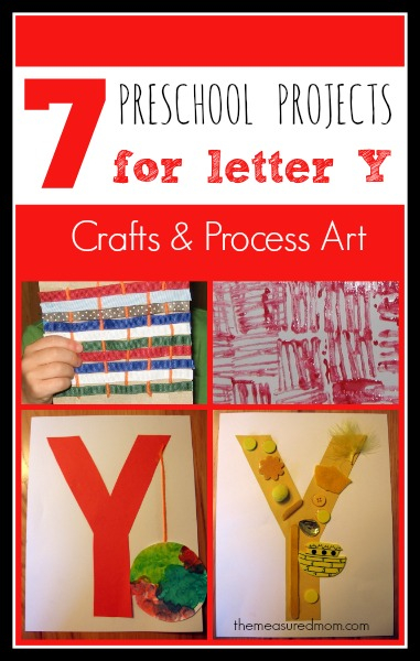 7 Letter Y Crafts And Process Art For Preschoolers The