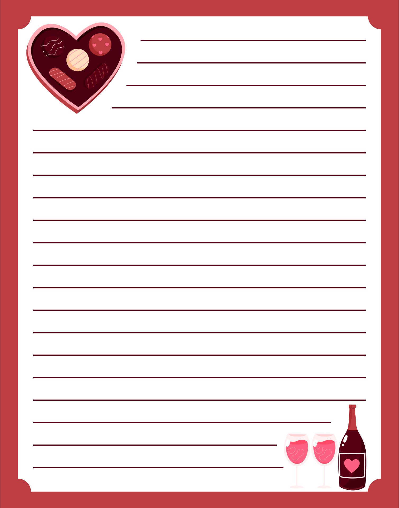 8 Best Cute Owls Love Letter Stationery Printable