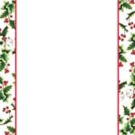 8 Best Free Printable Christmas Borders Holly Printablee