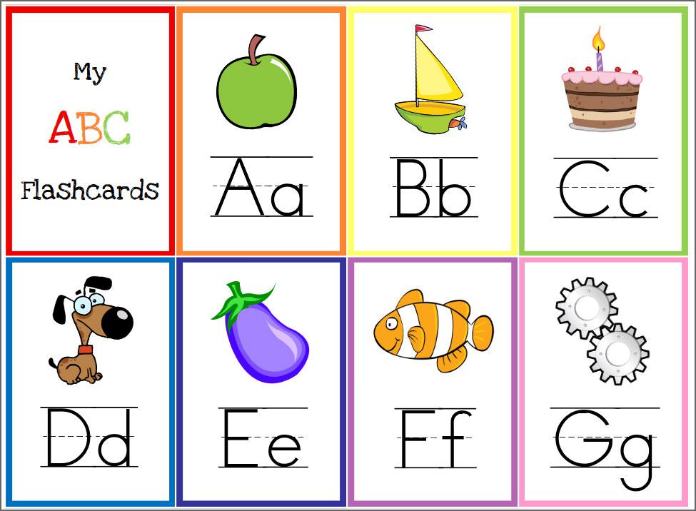 8 Free Printable Educational Alphabet Flashcards For Kids