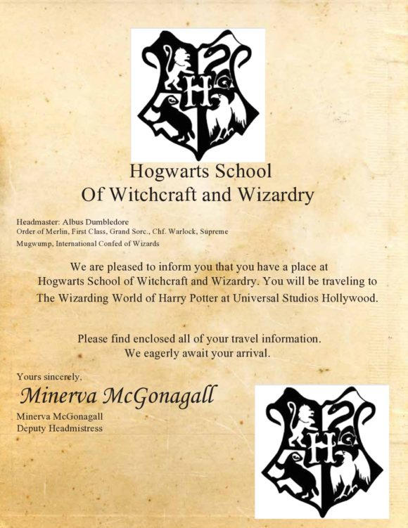 9 Harry Potter Hogwarts Letter Template Free Popular