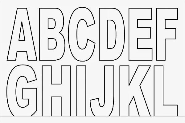 9 Printable Block Letters Free Sample Example Format