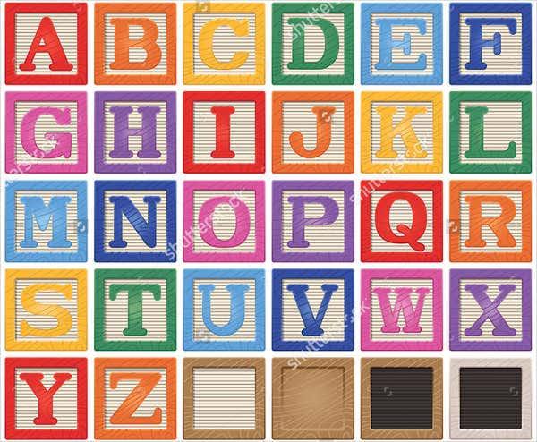 9 Printable Block Letters PSD EPS Free Premium