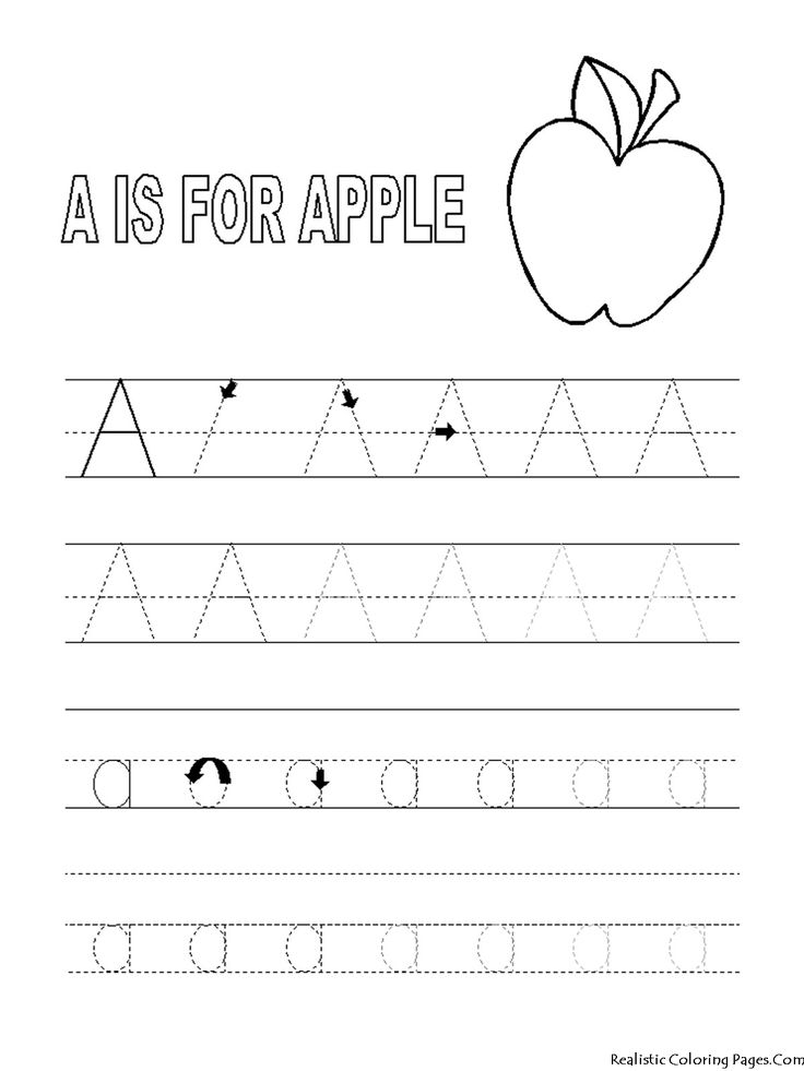 A Letters Alphabet Coloring Pages Preschool Tracing