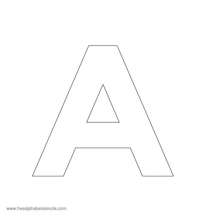 A Z Modern Sans Serif Alphabet Stencils For Walls Letter
