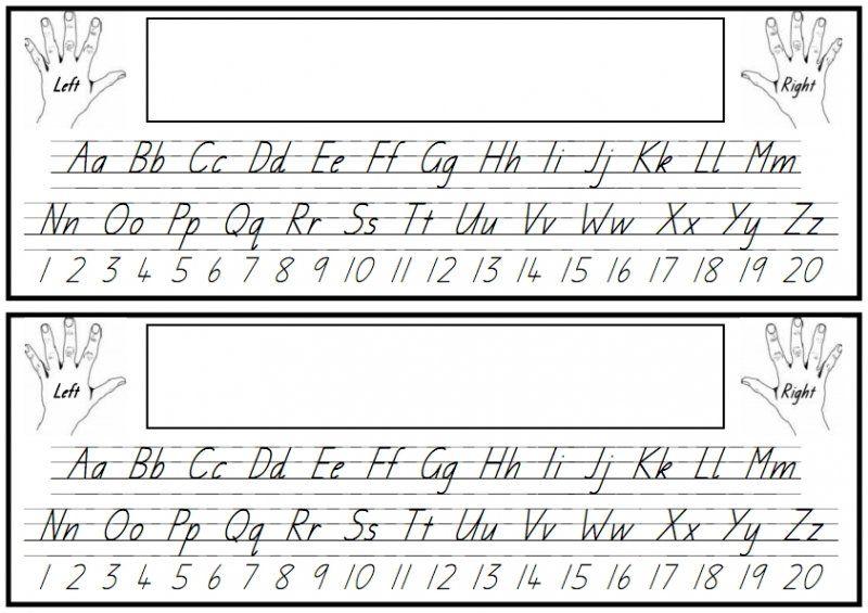 Alphabet And Numbers Desk Strip Alphabet Printables