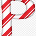 Alphabet Christmas Decoration Png Candy Cane Letters