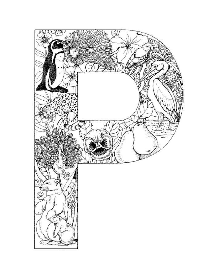 Alphabet Coloring Pages Coloring Letters Coloring Pages