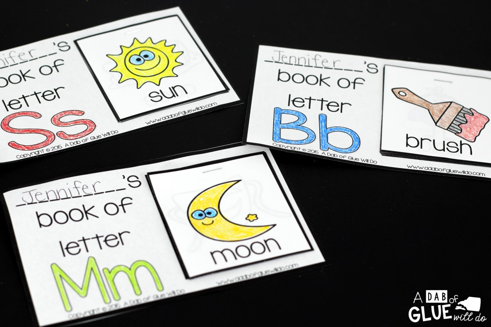Alphabet Flip Books A Dab Of Glue Will Do