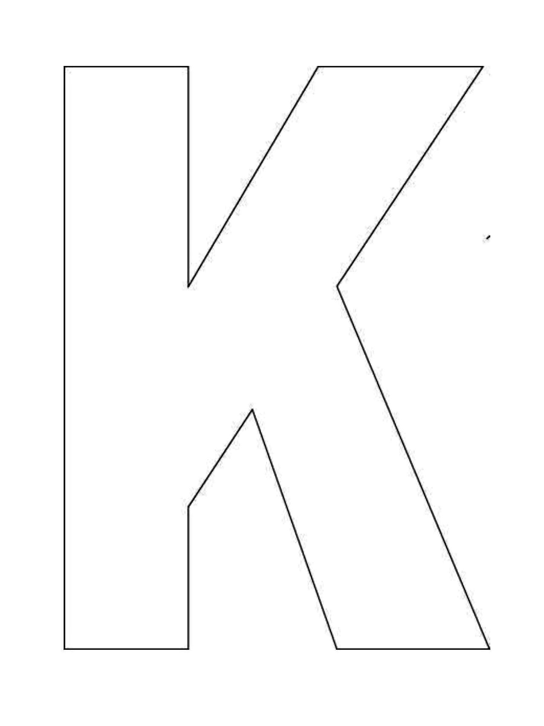 Alphabet Letter K Template For Kids Alphabet Letter