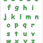 Alphabet Lower Case Letters Free Printable Templates