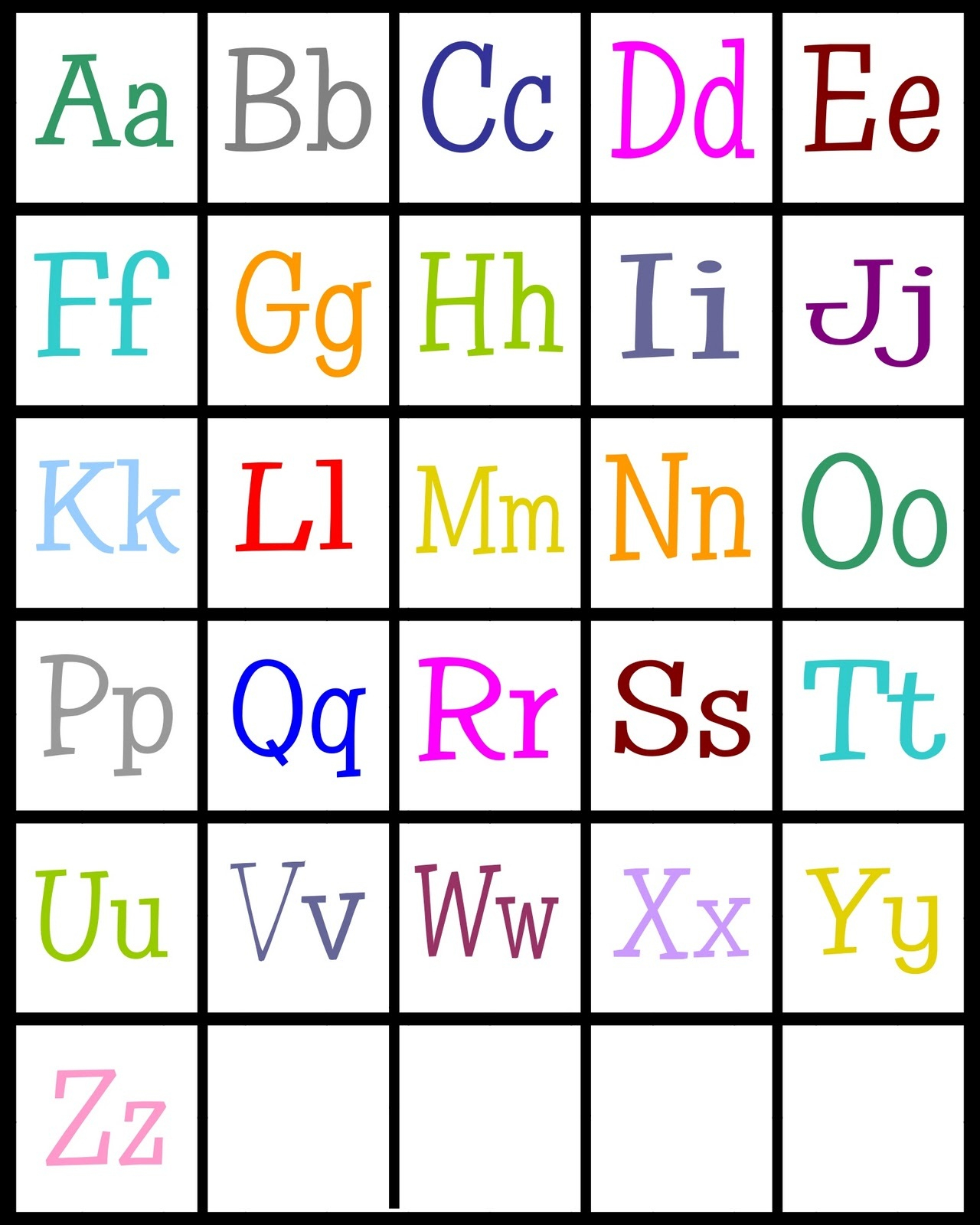 Alphabet Printable For Preschool Activity Shelter