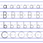 Alphabet Tracing Abc Letter Worksheets For Preschool