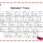 Alphabet Tracing Sheet For Preschoolers Set Your Plan