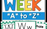 Alphabet Worksheets A Z Letter Of The Week A Z FULL