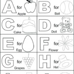 Alphabet Worksheets Best Coloring Pages For Kids