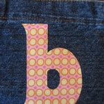 Applique Monogram Letters With FREE Printable Letters