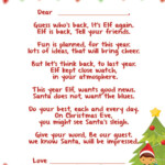Arrival Letters Complete Index Of FREE Elf On The Shelf