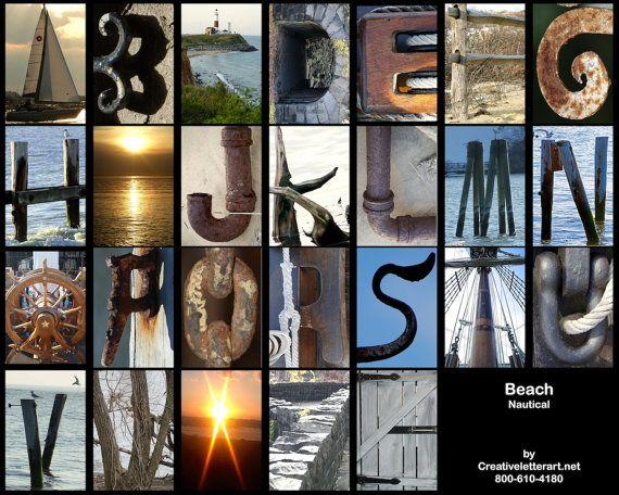 AZ Alphabet Beach Theme By Creative Letter By