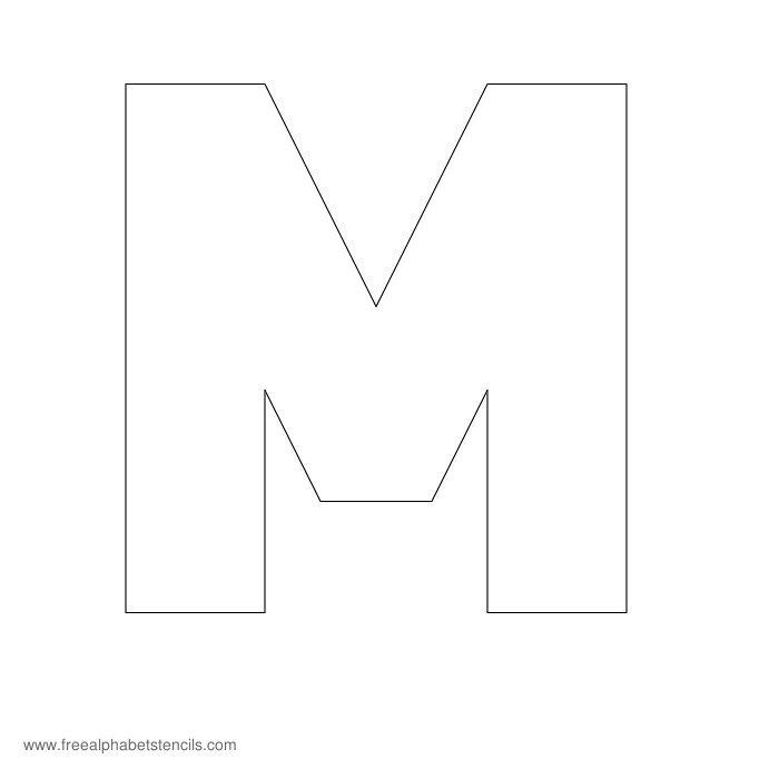 Block Extra Bold Alphabet Stencils FreeAlphabetStencils