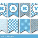 Blue Banner Party Banner Birthday Banner Baby Shower