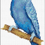 Blue Parakeet 9 987 x stitch 10 Free Patterns Online