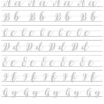 Brush Lettering Practice Sheets Printable Pdf Download