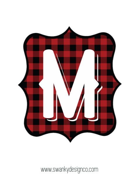 Buffalo Plaid Free Printable Banner Letters Swanky