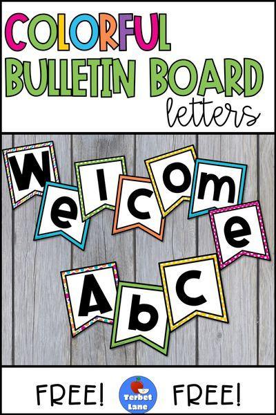 Bulletin Board Letters Free Printable In 2020 Bulletin