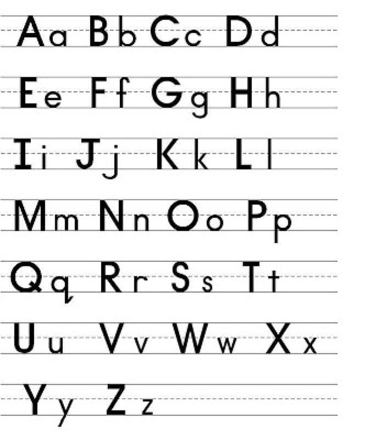 Capital And Lowercase Letters To Print Capital And