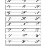 Capital Cursive Letters English ESL Worksheets For