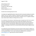Chef Cover Letter Example Free Download Resume Genius