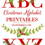 Christmas Alphabet Printables On Sutton Place