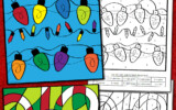 Christmas Color By Number Worksheets Mamas Learning Corner