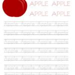 Coloring Guru Tracing Printables Word Apple Worksheet