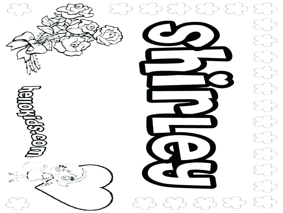 Coloring Pages Of Names In Bubble Letters At GetColorings