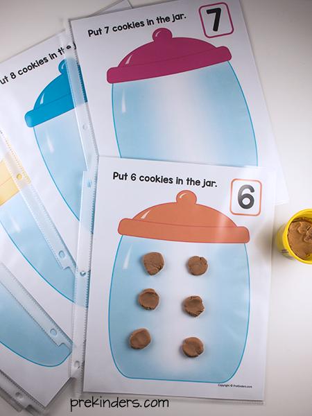 Cookie Jar Play Dough Math Mats PreKinders