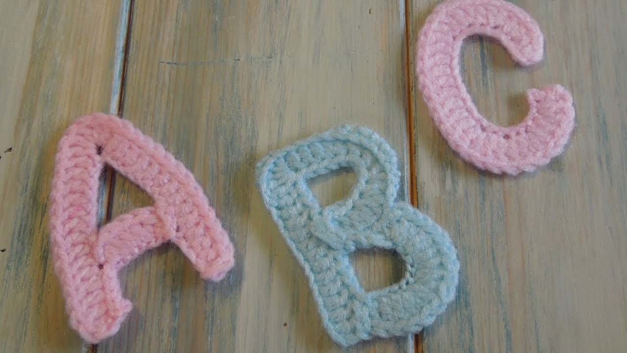 crochet How To Crochet Letters A B P And C Yarn
