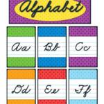 Cursive Alphabet Bulletin Board Set Cursive Alphabet
