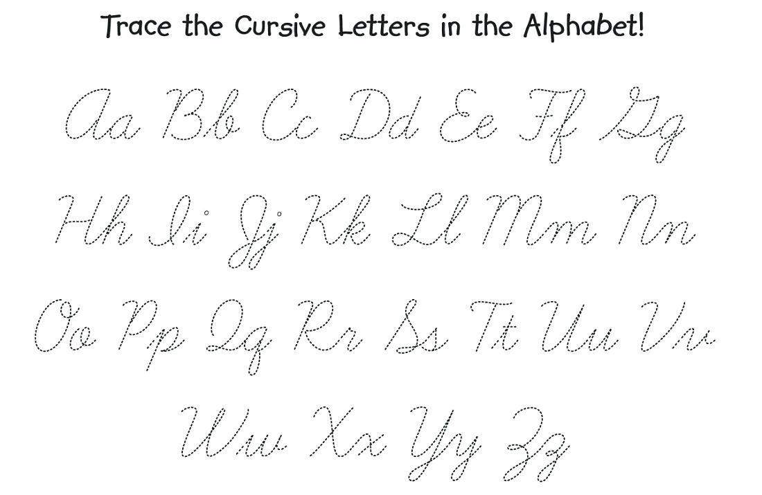 Cursive Alphabet Tracing Worksheets Az Pdf Printable Db