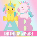 Cute Unicorn Alphabet Letters To Print Free Printable