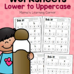 Dab It Alphabet Worksheets Match Lower And Uppercase
