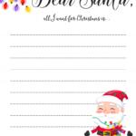 Dear Santa Letter Free Printable Downloads