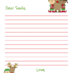 Dear Santa Letter Free Printable For Kids And Grandkids