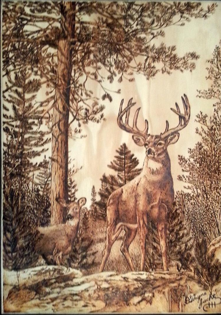 Deer In The Woods By MadTinkersShop On Etsy