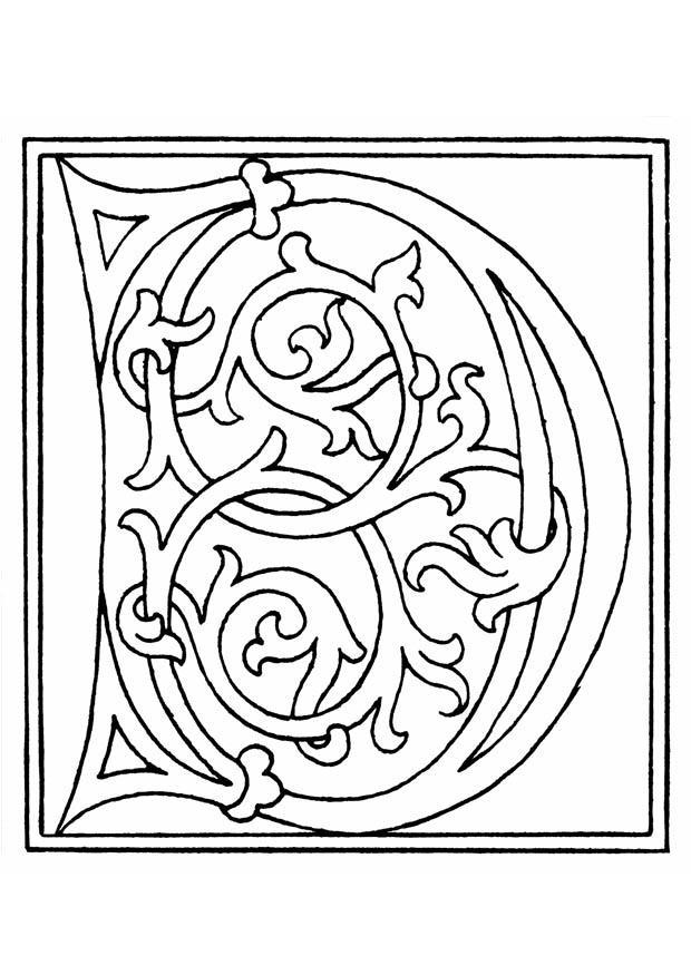 Disegno Da Colorare 01a alfabeto D Disegni Da Colorare E