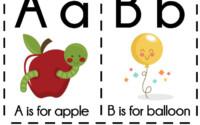 DIY Alphabet Flash Cards FREE Printable Free Preschool