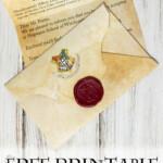DIY Hogwarts Letter With Printable Harry Potter Letter